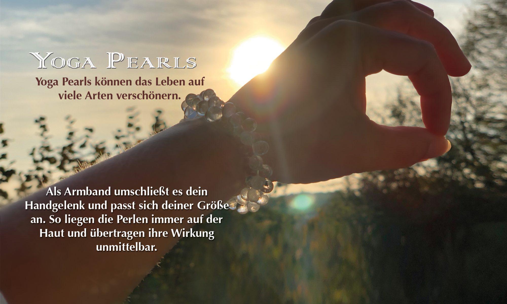 Yoga Pearls Armband Bergkristall