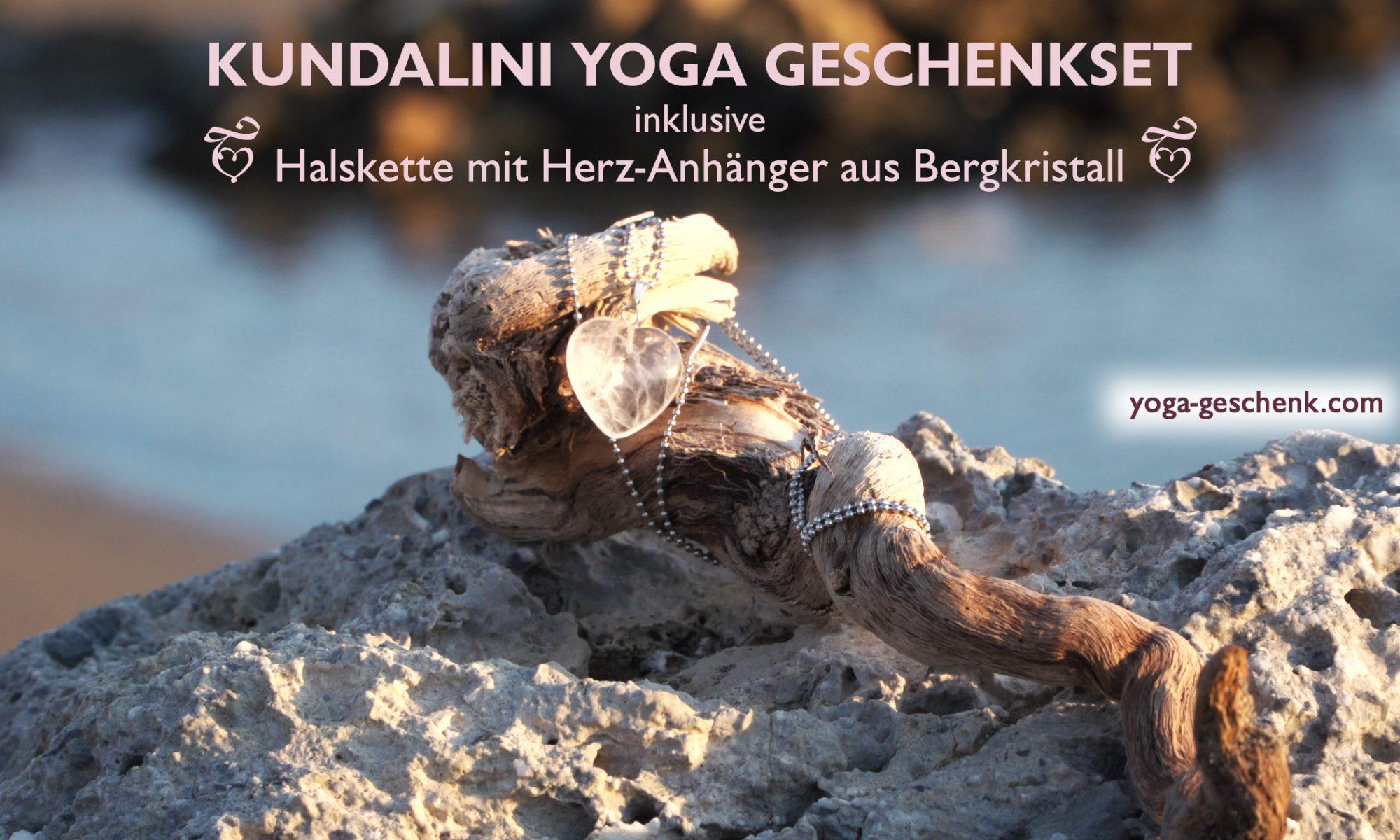 Yoga geschenk mit Bergkristall Schmuck