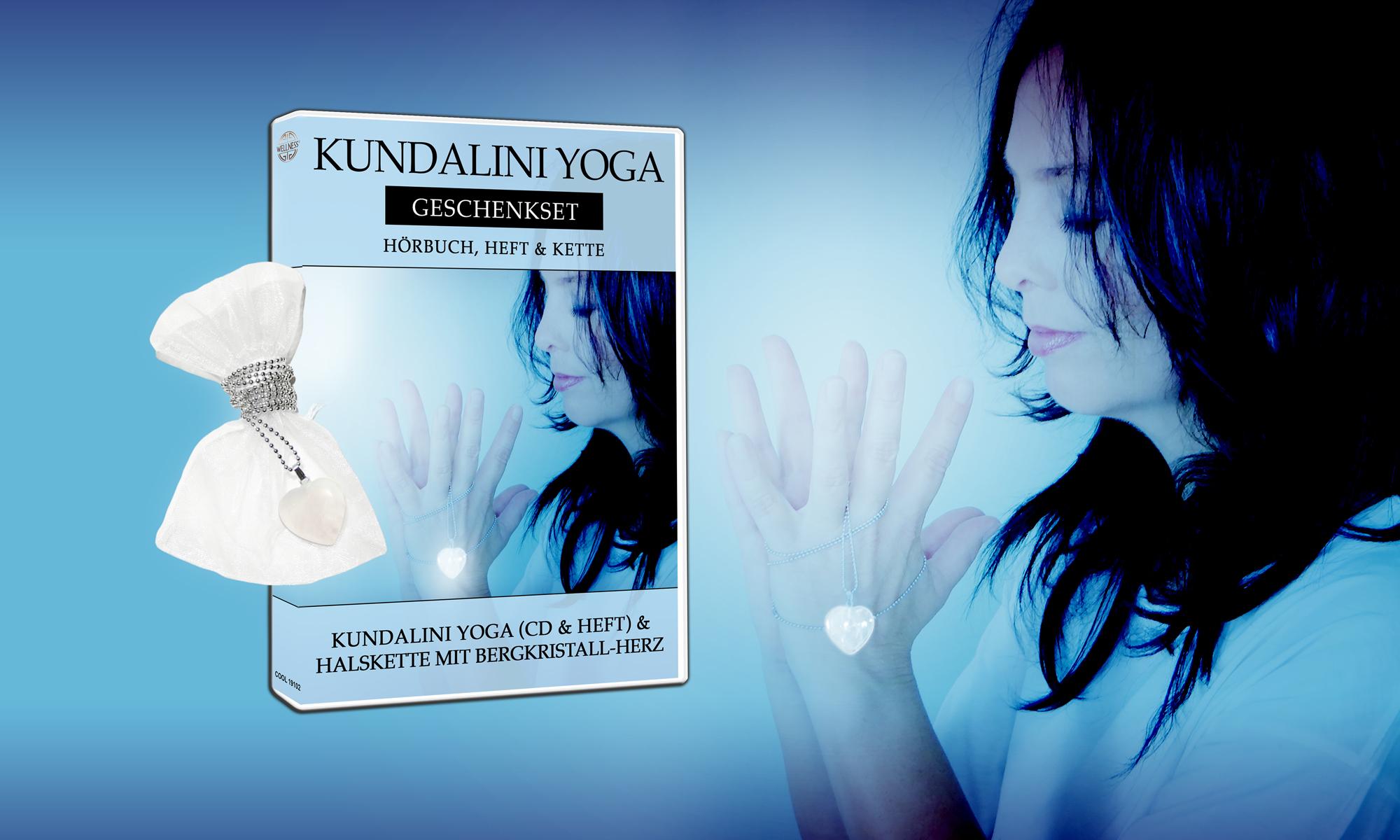 Kundalini Yoga Geschenkset Hörbuch, Heft & Kette