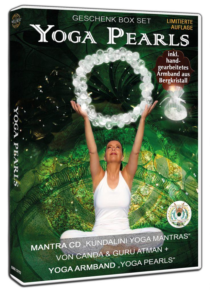 Yoga Pearls GESCHENK BOX SET mit Mantra CD + Yoga Armband